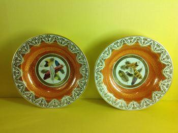 A pair of Chamberlain's Worcester deep  plates