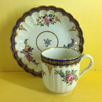 A Worcester coffee cup and saucer