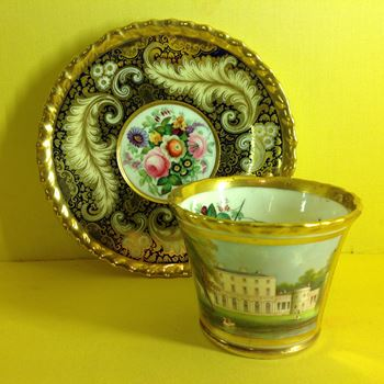A fine Chamberlain's Worcester cabinet cup and saucer