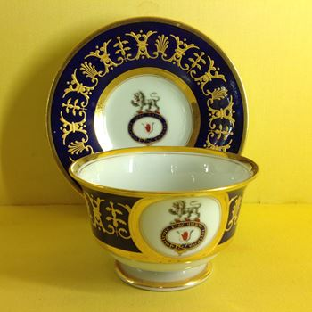 A Flight Barr and Barr Worcester breakfast cup and saucer