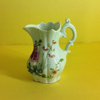 An early Worcester cream jug