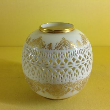 A Royal Worcester reticulated vase