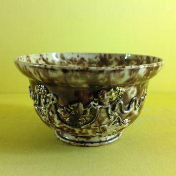 A rare Staffordshire creamware bowl, of Whieldon type
