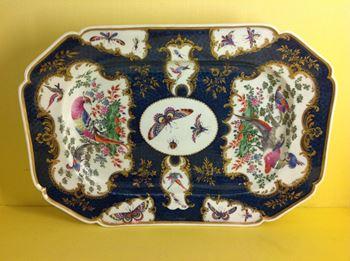 A Worcester canted rectangular dish