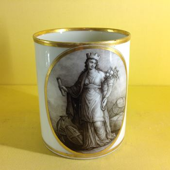 A rare Flight and Barr Worcester cylindrical mug