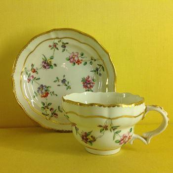 A Bristol tea cup and saucer