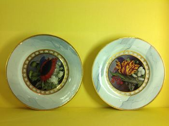 A pair of Barr Flight and Barr Worcester plates