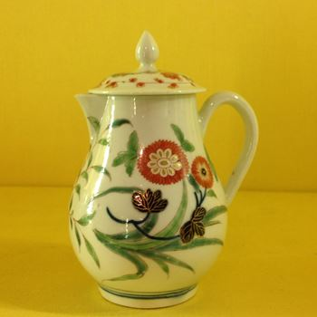 A Worcester milk jug and cover