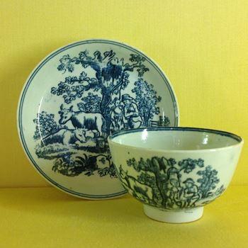 A Liverpool tea bowl and saucer