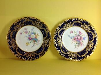 A fine pair of Royal Crown Derby plates