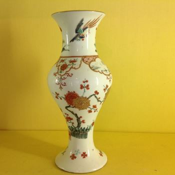 An extremely rare early Bow vase