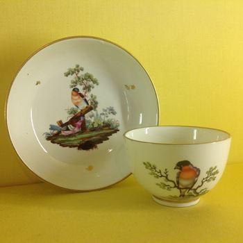 A Hochst teacup and saucer