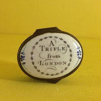 A South Staffordshire enamel patch box