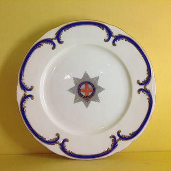 A scarce set of twelve Coalport dinner plates from the  Garter Service