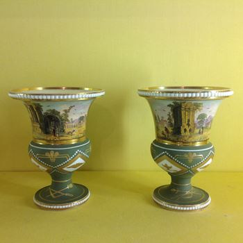 A rare pair of Spode vases