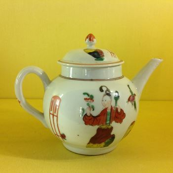 A very rare Plymouth small teapot and cover