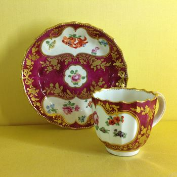 A rare Chelsea Derby coffee cup and saucer