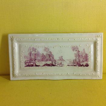 A rare Birmingham enamel rectangular small tray