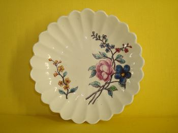 A Chelsea fluted saucer