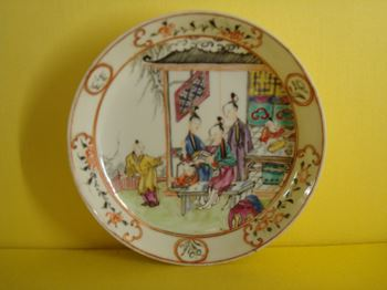 A Chinese Export famille rose saucer