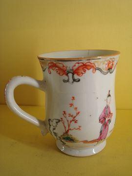 A Chinese famille rose mug