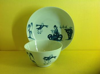 A Liverpool tea bowl and saucer