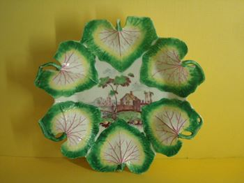 A Longton Hall leaf moulded dish