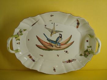 A Meissen oval dish