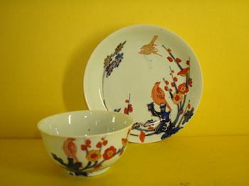 A Vauxhall tea bowl and saucer