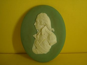 A Wedgwood jasper plaque of Nelson