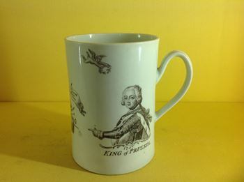 A Worcester 'King of Prussia' mug