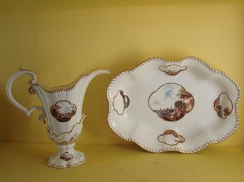 A fine Meissen ewer and basin