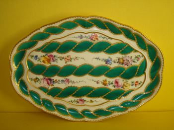 A fine Sevres lobed oval small tray