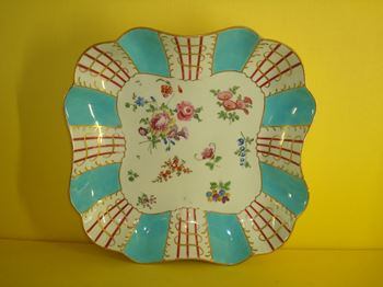 A fine Worcester concave sided dish