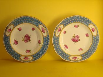 A fine pair of Derby soup plates, from the Northumberland Service