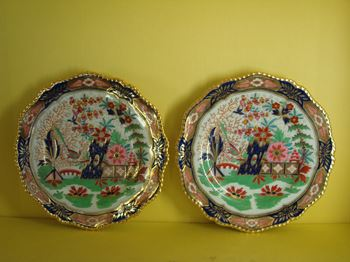 A fine pair of Flight, Barr and Barr Worcester plates
