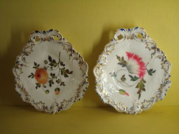 A fine pair of George Grainger botanical dishes