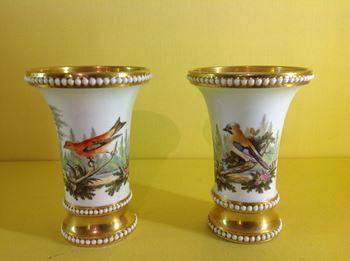 A fine pair of Spode spill vases