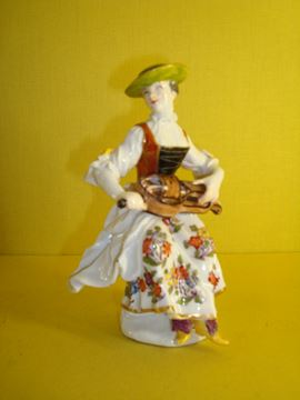 A Meissen figure of Columbine