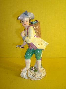 A Meissen figure of a young man