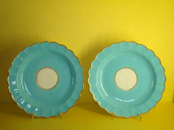 A pair of Worcester plates