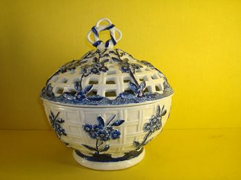 A good Derby pot pourri basket and cover