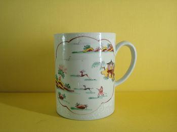 An extremely rare Samuel Gilbody Liverpool mug