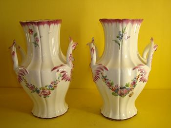 A pair of Chantilly vases