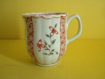 A rare Chaffer's Liverpool coffee cup