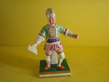 A rare Derby figure of Grimaldi the Clown