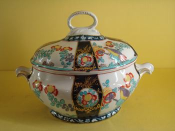 A rare Derby sauce tureen and cover