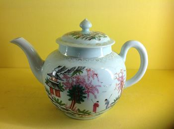 A rare Liverpool teapot and cover