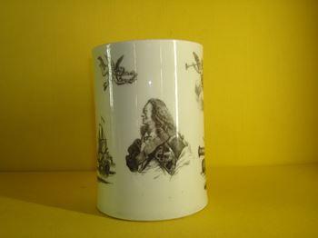 A rare Worcester commemorative mug