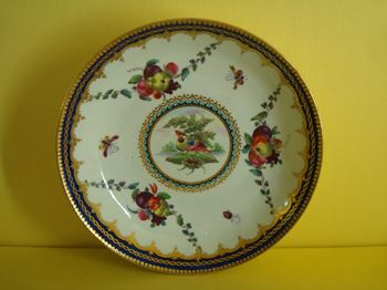 A rare Worcester small saucer dish